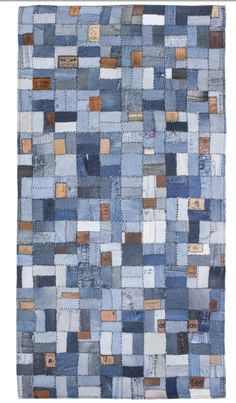 I have been collecting denim for years this is why! A denim rug for the boys room fab'