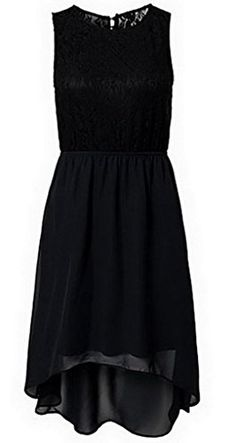 Smile YKK Women's Mini A-Line Skater Dress Black Lace Cocktail L. Black Lace Long Evening Dress. All ladies like the feeling of being a graceful princess in crowd, our wholesale evening dresses will do you a wonder. Well made in a figure-flattering silhouette, the hollow out of lace back is ultra sexy appealing, double layered high low chiffon skirt fluttering in breeze brings you a exceptional gorgeous look.?. Size M: Bust 78-94cm Waist 64-71cm Hip 91-99cm Length 83cm; Size L: Bust 82-100cm…