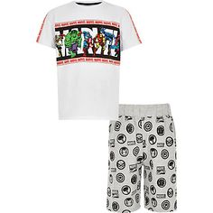 Get him set for bed with our boys nightwear. From boys pyjamas to dressing gowns and loungewear, our boys nightwear will have him ready for tuck-in time. Boys Pjs, Boys Pajamas, Pyjamas, Marvel Kids, Marvel Clothes, Fashion Room, Printed Shorts, Nightwear, Kids Shirts