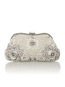 Untold Pearl Beaded Clutch Bag Now £56.00 Was £80.00