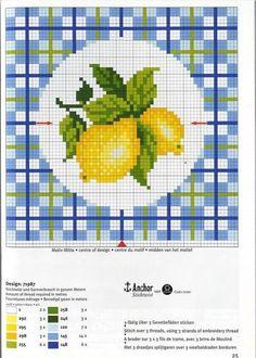Biscornu Cross Stitch, Cross Stitch Fruit, Cross Stitch Kitchen, Cross Stitch Love, Cross Stitch Pictures, Cross Stitch Borders, Counted Cross Stitch Patterns, Cross Stitch Designs, Cross Stitching