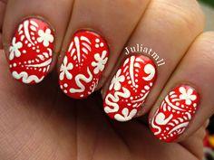 Hawaiian nails @kloweryrobinson