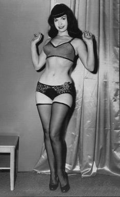 Bettie Page had an hourglass figure. Never have I and probably never will I hear anyone complain about her.