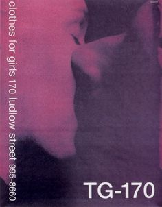 TG-170, Clothes for Girls, NYC. Poster by Mike Mills.