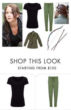 """Katniss Everdeen"" by avameli09 ❤ liked on Polyvore featuring Joseph, Elizabeth and James, Nili Lotan and Bow & Arrow"