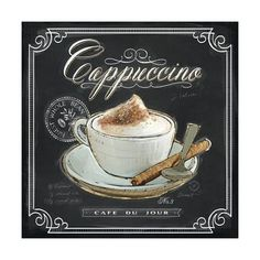 Coffee House Cappuccino Art Print by Chad Barrett at Art.com