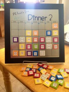 Dinner menu board