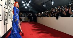 Find out which celebrities wore the wildest outfits on the red carpet to the 2016 Grammys at the Staples Center in L.A. on Monday, February 15