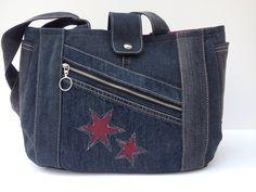 """Umhängetaschen - Jeanstasche """"Sterne"""" - ein Designerstück von Bea-Trix-Shop bei DaWanda"""