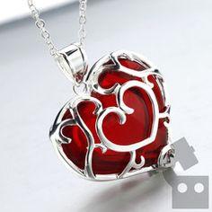Platinum Skyward Sword Heart---- Zelda Heart container necklace. This is beautiful. I NEED THIS.