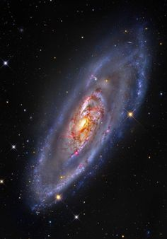 M106, Spiral Galaxy With Blossoming Center