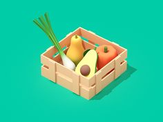Fresh Fruits designed by Robinsson Cravents. Clay Design, 3d Design, Game Design, Low Poly, Casual Art, Game Icon, Blender 3d, Game Assets, Food Illustrations