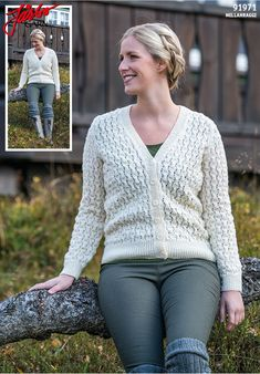 Wonderful cardigan in our Mellanraggi.