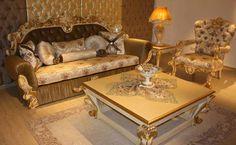 Classic Sofa Sets - Luxury Seat Models - Turkish Sofa Sets Turkish Furniture, Royal Furniture, Luxury Furniture Brands, Italian Furniture, Leather Furniture, Dining Furniture, Bedroom Furniture, Living Room Sets, Home Living Room