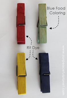 How to Dye Clothespins