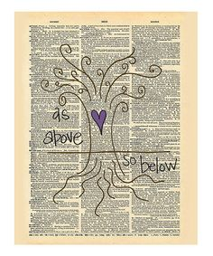 Look what I found on #zulily! 'As Above So Below' Dictionary Print by Doodli-Do's #zulilyfinds