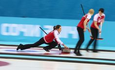 Olympic crush: the Russian women's curling team Olympic crush: the Russian women's curling team Anna Sidorova of Russia in action during the round robin match against Denmark during day 3 of the Sochi 2014 Winter Olympics at Ice Cube Curling Center. (Getty Images/Clive Mason)