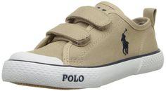 6e77485c2e2 Polo Ralph Lauren Kids Carlisle EZ Sneaker (Toddler),Khaki,4 M US Toddler