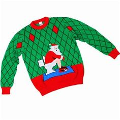 Toilet Santa Adult Ugly Christmas Sweater - 338650 | trendyhalloween.com