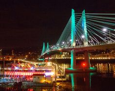 Every February, the Portland Winter Light Festival covers the city's east side with imaginatively-shaped LED light displays.