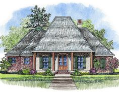 Front and Rear Porches - 56354SM | 1st Floor Master Suite, Acadian, Butler Walk-in Pantry, Corner Lot, European, French Country, PDF, Southern | Architectural Designs