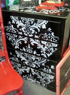 damask dresser
