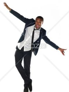 young man flying - Shot of a young man with his arms out, isolated in white.
