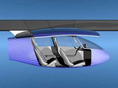 SkyTran is a concept for high-capacity and high-speed personal rapid transport developed by an American Company UniModal Transport Solutions. This SkyTran system is two-passenger vehicles, propelled and suspended by maglev system.