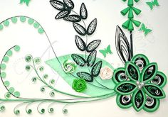 Ayani art: quilled leaves