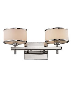 Love this Chrome Utica Two-Light Bath Wall Sconce on #zulily! #zulilyfinds