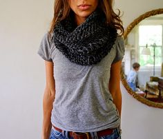 iKNITS: Drop Stitch Cowl- ADULT AND CHILD SIZE!