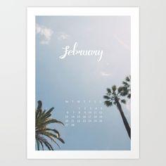February 2017 Calender Art Print