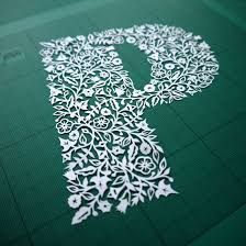 Image result for paper cut typography