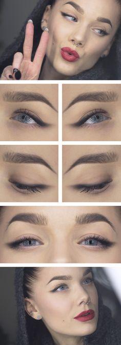 Love this simple makeup look by Linda Hallberg. She is an amazing makeup artist!
