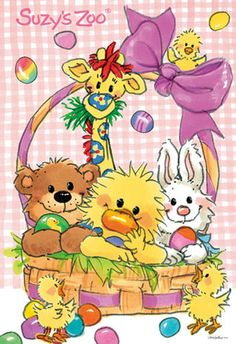 Paxton, Kira, Zach and Brooke : ) Suzy, Zoo Art, Easter Wallpaper, Baby Painting, Vintage Easter, Easter Crafts, Clipart, Cute Art, Happy Easter