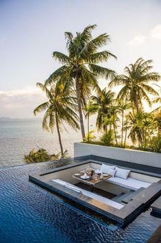 Ocean View Villa w/Pool. Ocean View Villa w/Pool. Conrad Resort K Outdoor Spaces, Outdoor Living, Outdoor Pool, Outdoor Lounge, Outdoor Seating, Beautiful Homes, Beautiful Places, Beautiful Sunset, Koh Samui