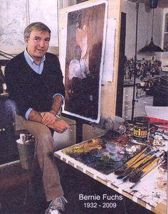 Photograph of Bernie Fuchs, Fuchs Illustration, Magazine Illustration, American Illustration, Figure Painting, Figure Drawing, 60s Art, My Art Studio, American Sports, Artist Profile
