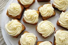 Banana Cakes with cream cheese frosting.