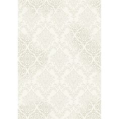 "Inertia Cream/ Beige Damask Rug (7'10 x 10'10) (7'10"" x 10'10""), Size 7' x 10' (Plastic, Abstract)"
