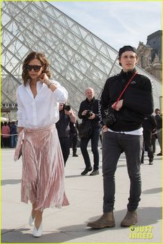 Victoria Beckham Visits the Louvre with Brooklyn & His Ex | victoria beckham visits the louvre brooklyn beckham sonia ben ammar 03 - Photo