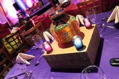 Indian wedding decor for a Garba, sangeet or mehendi