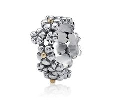 Pandora Plum Blossom Sterling Silver Rings - Click Image to Close