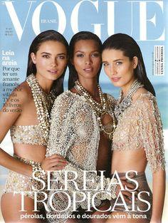 Tayane Leão, Laís Ribeiro & Marcelia Freesz for Vogue Brazil January 2012