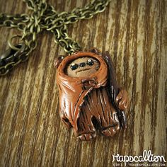 Tiny Ewok Polymer Clay Necklace by rapscalliondesign on Etsy, $22.13