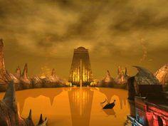 Kerath's Arch in Ae'gura, from the game Uru.