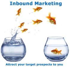 #Inbound Marketing in a nutshell. Or a fishbowl. Whichever!