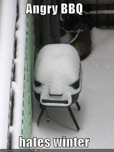 I like winter, but angry BBQ does not agree.