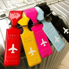 sss Travel PU Leather Luggage Tag Cover Creative Accessories Suitcase ID Address Holder Letter Baggage Boarding Tags Portable Label Name :Luggage Tags Material:Silica Gel Weight: About / Pcs Packing: Independent Plastic Bag Packaging Nice, Leather Suitcase, Leather Luggage Tags, Happy Flight, Cute Luggage Tags, Plastic Bag Packaging, Business Dress, Travel Tags, Travel Accessories