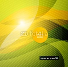 Vector: Abstract modern yellow wave template