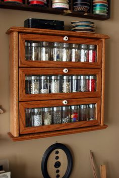 Spice Rack becomes storage for small crafting items